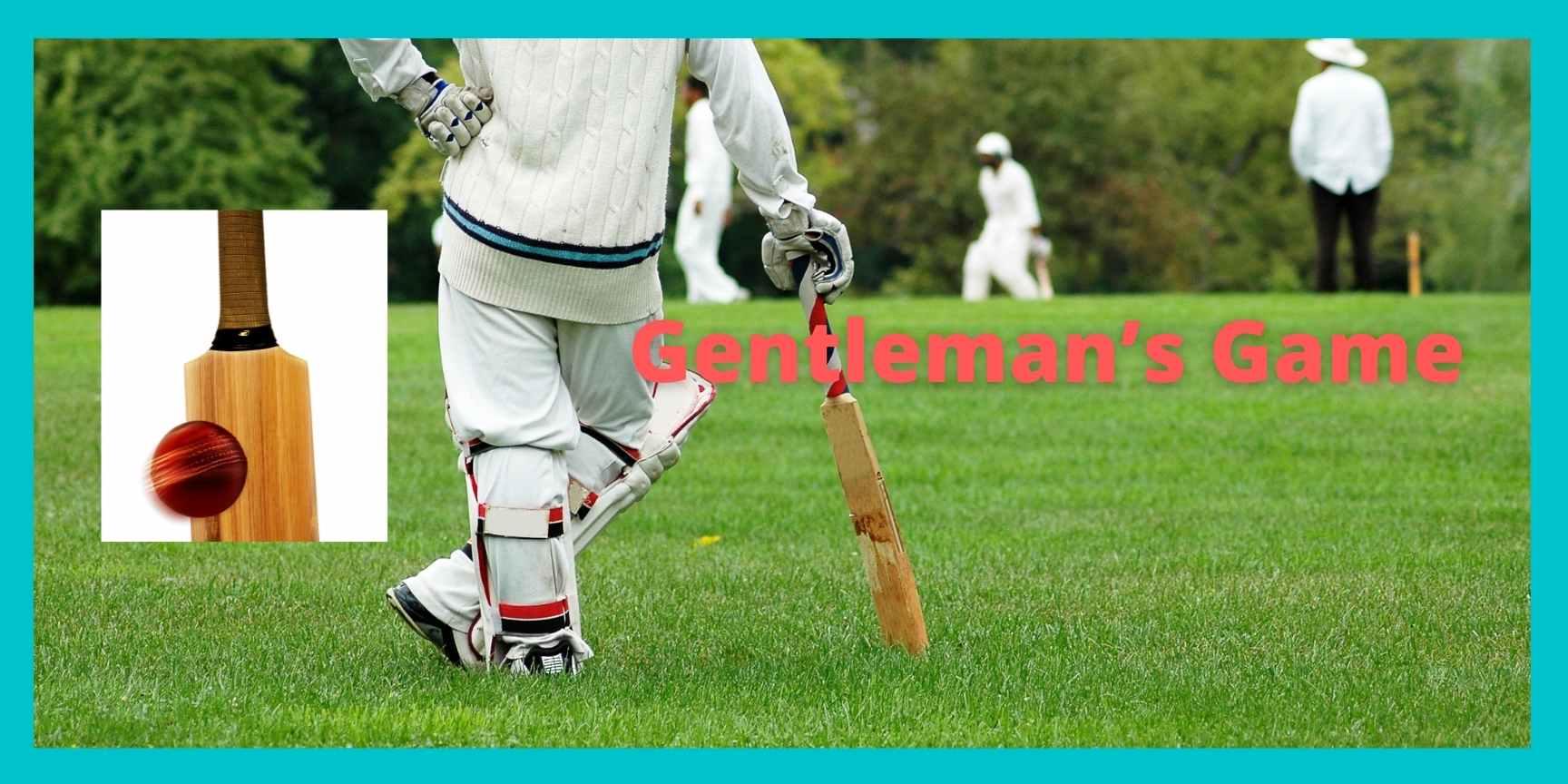 cricket is gentleman's game